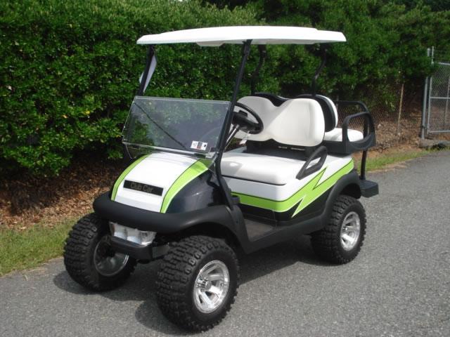 Lifted Club Car Z Pattern Carolina Golf Cars