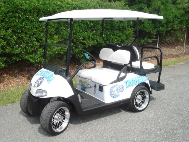 48V A/C Drive E-Z-GO RXV. Lifted w/ alloy wheels, custom paint, lights