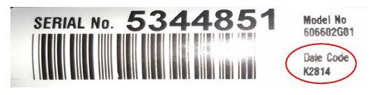 serial number EZGO example