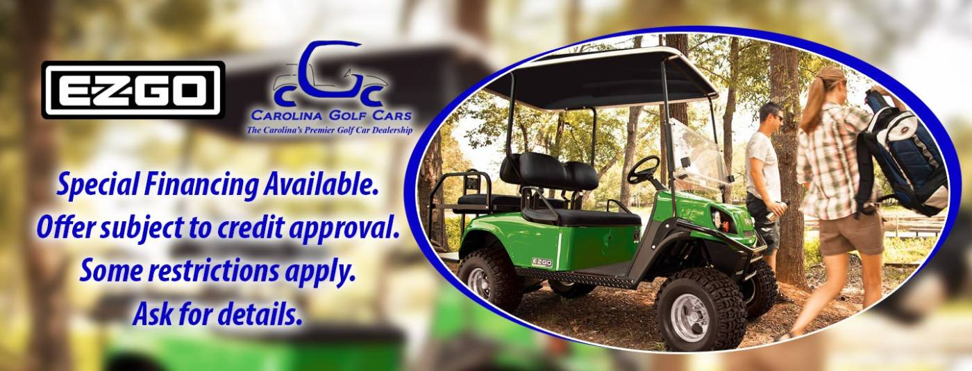 EZGO finance special, golf cars