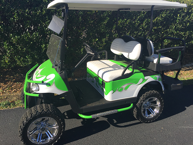 Customized Golf Carts for Sale | CGC on lifted golf carts ebay, jet-powered golf cart, airbrush custom golf cart, lifted gas golf cart, 4x4 golf cart, red lifted golf cart, 2015 ez go golf cart, lifted off-road golf carts, e-z-go rxv golf cart, best brand gas golf cart, used street-legal golf cart, used 6 seater golf cart, lifted golf cart tires, redneck golf cart, rat rod golf cart, lifted hyundai golf cart, lifted custom golf cart, craigslist harley golf cart, snowboard golf cart, lifted electric golf cart,