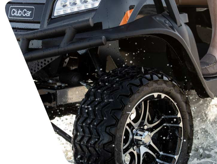 Onward Lifted 4 Passenger Black With Rugged Tires And 14 Inch Wheels