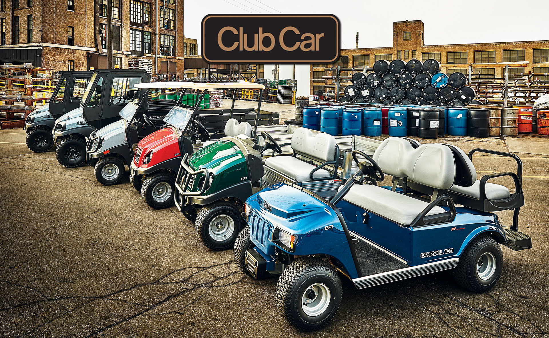 Club-Car-Carryall-Utility-Vehicle-Family-Hero-with-Logo