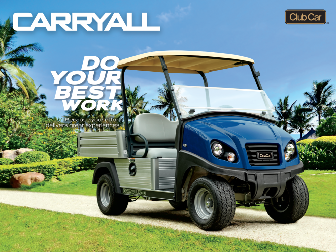 Club-Car-Carryall-Utility-Vehicle-Resort-Do-Your-Best-Work
